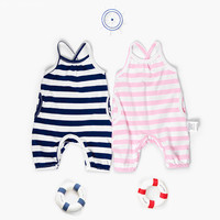2018 Spring Summer Baby Rompers Baby Boy Girl Striped Jumpsuit High Quality Overalls Infant Clothing Baby