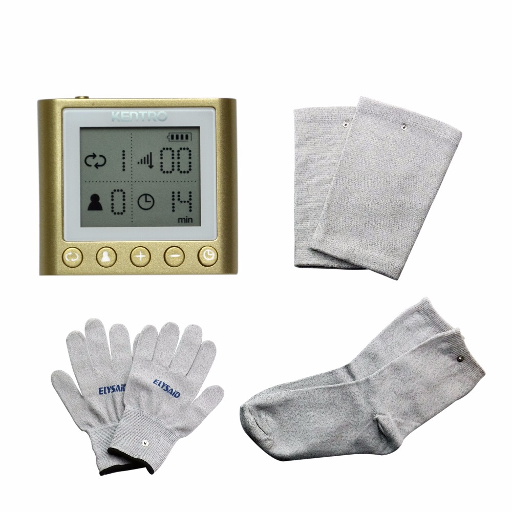 Electrical Stimulator Full Body Relax Tens Muscle Massager Pulse Acupuncture Therapy Massage Device With Glove Sock Kneepads tens therapy 16mode electrical stimulator full body relax muscle therapy massager with conductive gel and conductive glove