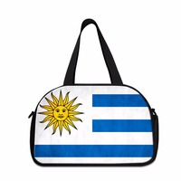 Dispalang Mulitifunctional Men Luggage Travel Bag Cross Body Bag With Independent Shoe Space Uruguay Flag Trip Travel Duffle Bag