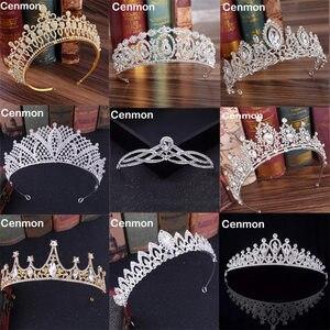 Diverse Rhinestone Crystal Kronen Bruid Tiara Fashion Queen Voor Bruiloft Kroon Hoofddeksel Bruiloft Haar Sieraden Accessoires