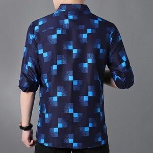 Image 2 - Plaid Shirts Mannen Mode 2019 Nieuwe Herfst Button Down Lange Mouwen Casual Sociale Shirt Plus Size 4XL 5XL 6XL 7XL