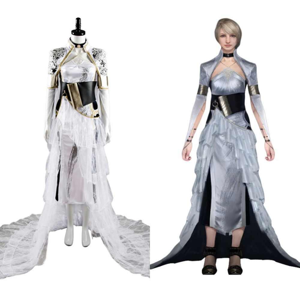 Ff Xv Ff 15 Luna Costume Lunafreya Nox Fleuret Dress Cosplay