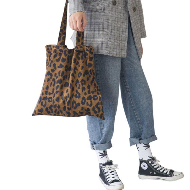 Shopping Il Borsa Della Del Bag Modello Velluto Coste Tote Shoppers A  Riutilizzabile blu Leopardo 40x38 ... 7a168951065