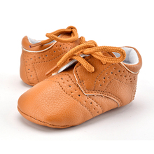 Toddler Baby Boys Girls PU Leather Crib Shoes Infant Anti Slip Casual Shoes