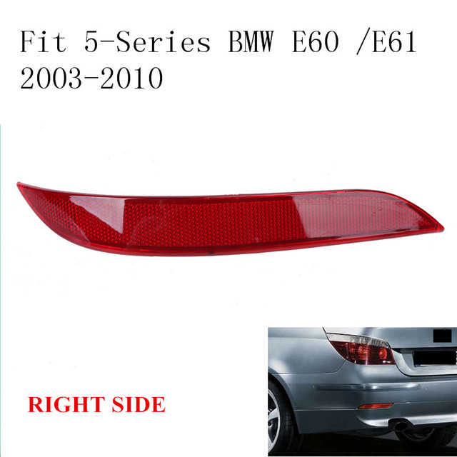 For BMW E60 E61 5-Series 2003-2010 Red Len Right Side Rear Bumper Reflector Fog Warning Light CAR-W105-R //