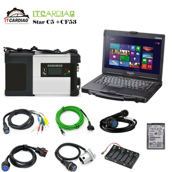 V2019.12 MB Star SD Connect C5 XENTRY Diagnostic WIFI for Benz Multi-Language With  320GB HDD Full Software With Laptop CF-53