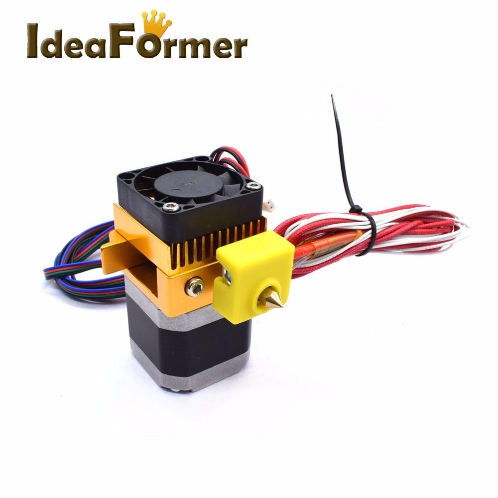 Upgraded 3D Printer Parts MK8 Extruder Kit Hotend+Stepper Motor+Nozzle+Fan