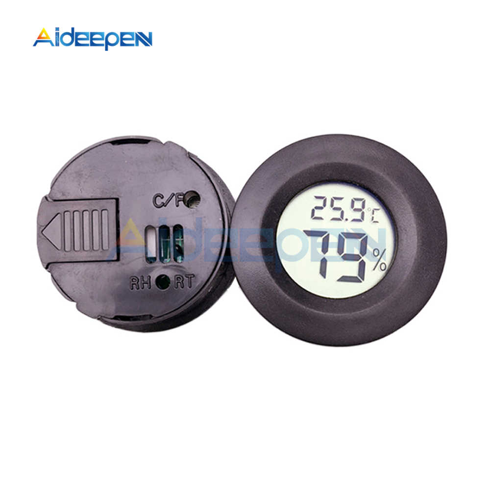 Мини Круглый ЖК-цифровой термометр гигрометр холодильник тестер морозильника Измеритель температуры и влажности детектор домашний измерительный инструмент