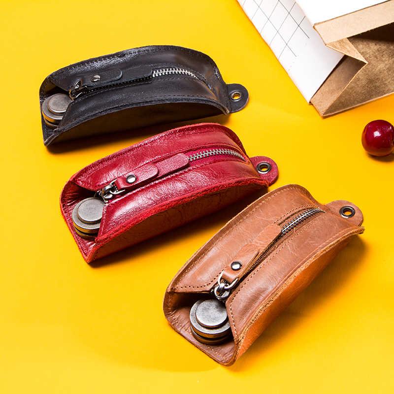 2019 органайзер для ключей из натуральной кожи, кошелек для ключей для мужчин и женщин, многофункциональный чехол для автомобильных ключей, роскошная брендовая подушка, ключница