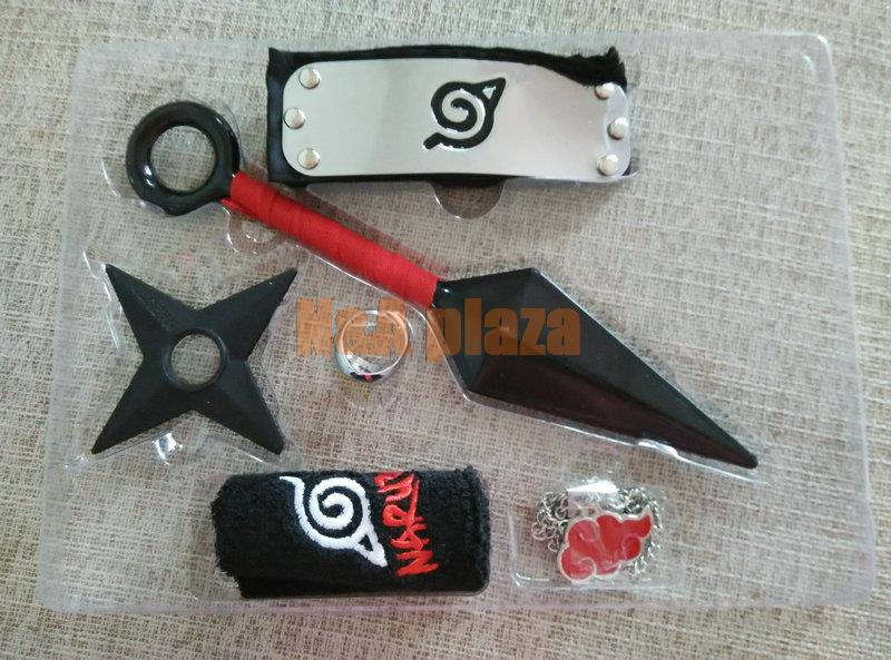 Naruto Cosplay Metal Weapon Kit Headband Kunai Knife Shuriken Ring Wristband Free Shipping In Action Toy Figures From Toys Hobbies On Aliexpress Com