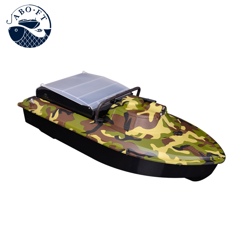 Free shipping cheap bait boat newest camouflage JABO-2AL-20A  RC fishing tools free shipping factory price catamaran hull jabo 5a long distance two hoppers rc bait boat for releasing hook