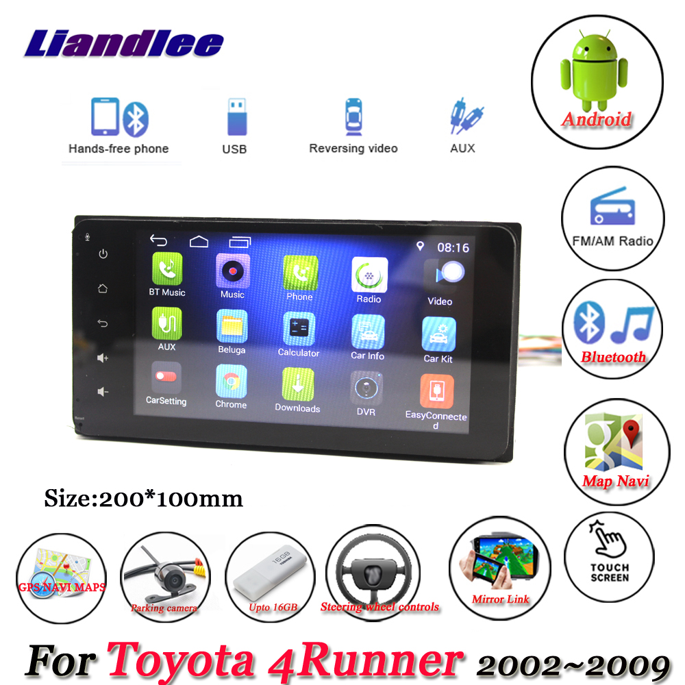 Liandlee Car Android System For <font><b>Toyota</b></font> <font><b>4Runner</b></font> N210 2002~<font><b>2009</b></font> Radio Stereo Camera GPS Navi MAP Navigation HD Screen Multimedia image