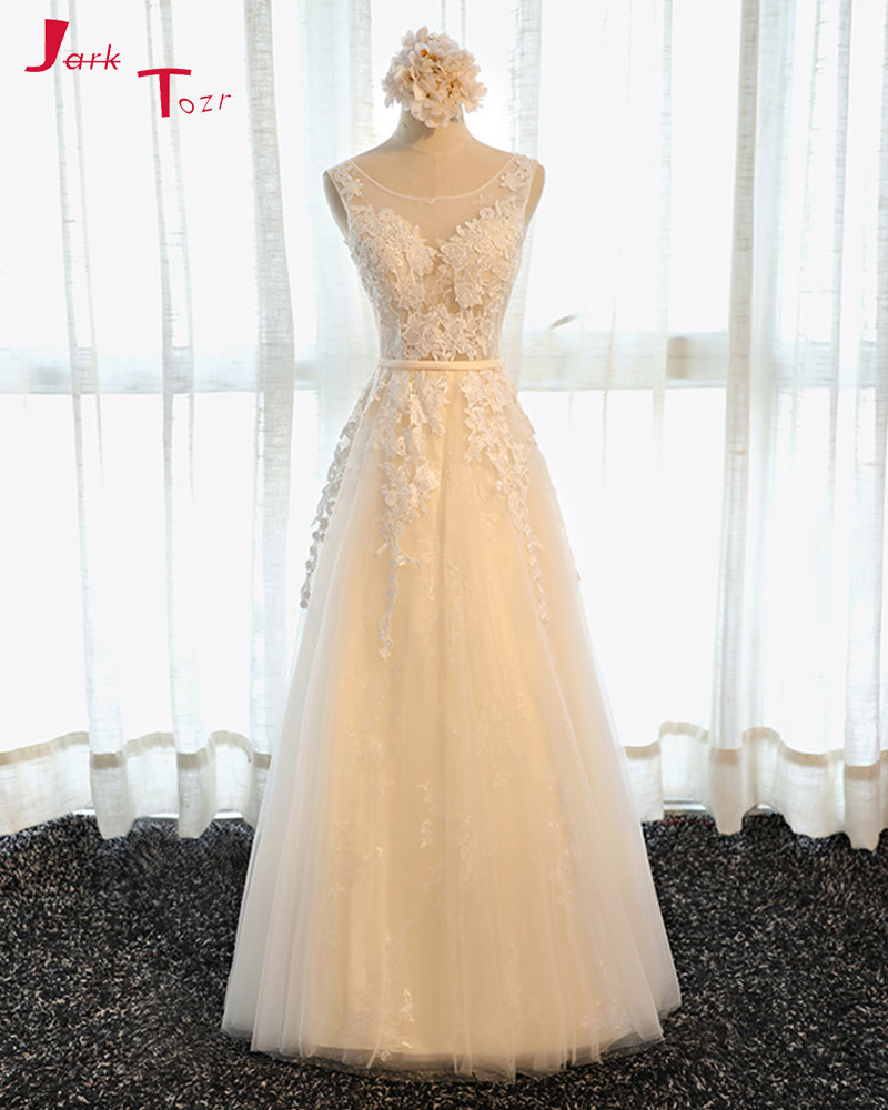 Jark Tozr Custom Made Lace Up Floor Length Appliques   Bridesmaid     Dresses   2019 Vestido Madrinha Alibaba China Formal Gowns