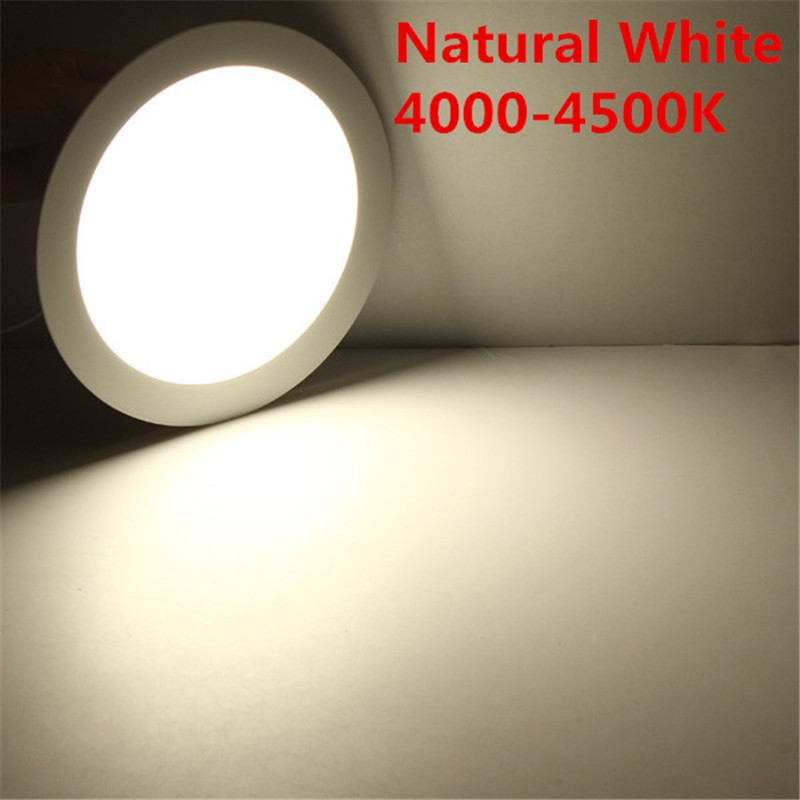 DHL Free Shipping For 10pcs/lot Ultra Thin 25W Led Panel Light AC85-265V Warm/Natural/Cold White LED Downlight Recessed Light