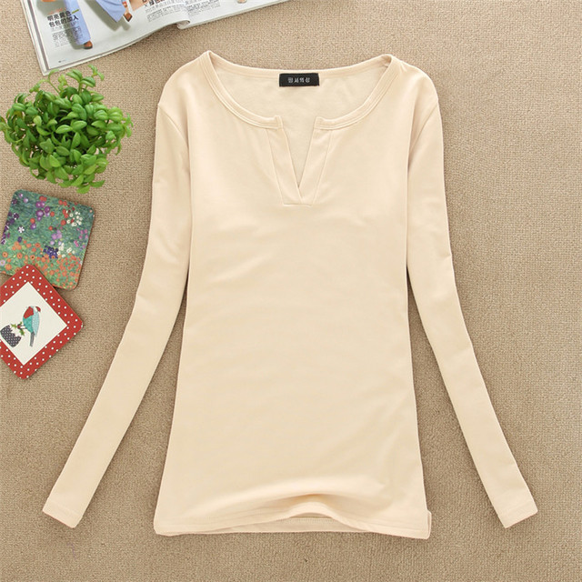 Women V Neck Solid Casual...