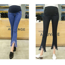 New fashion Spring autumn maternity trousers pencil pants ripped Jeans Abdominal adjustable цена и фото