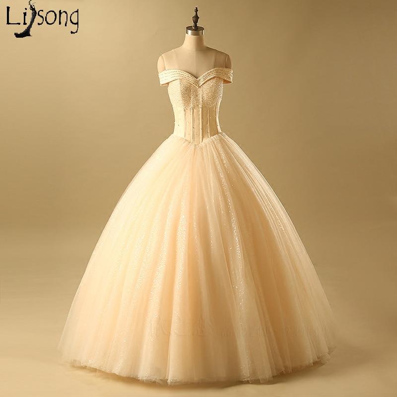 Aliexpress.com : Buy Light Champagne Wedding Ball Gown