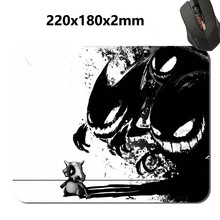 Black whit anime Print 2017 New Arrival Hot Selling Design High Quality Durable Computer Gaming Anti-Slip Laptop PC Mouse Pad