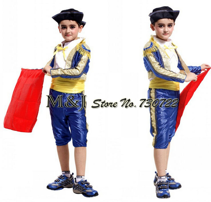 Free shipping!!A little Spanish bullfighter festival costumes Halloween cosplay costume matador costumes