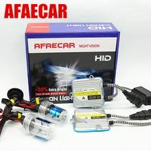 Afaecar 12В 55 Вт комплект H7 H1 H3 H4 H8 H9 H11 HB3 4300 k 5000 K 6000 k 8000 K HID ксенон, противотуманная лампа