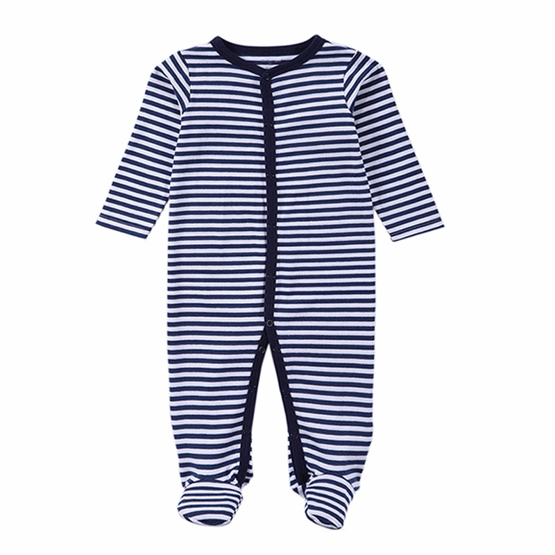 2016 Newborn Rompers Baby Boy Clothes Long Sleeve Cotton Body Bebe Baby Girl Clothes Black Stripped Autumn Baby Romper Clothing (7)