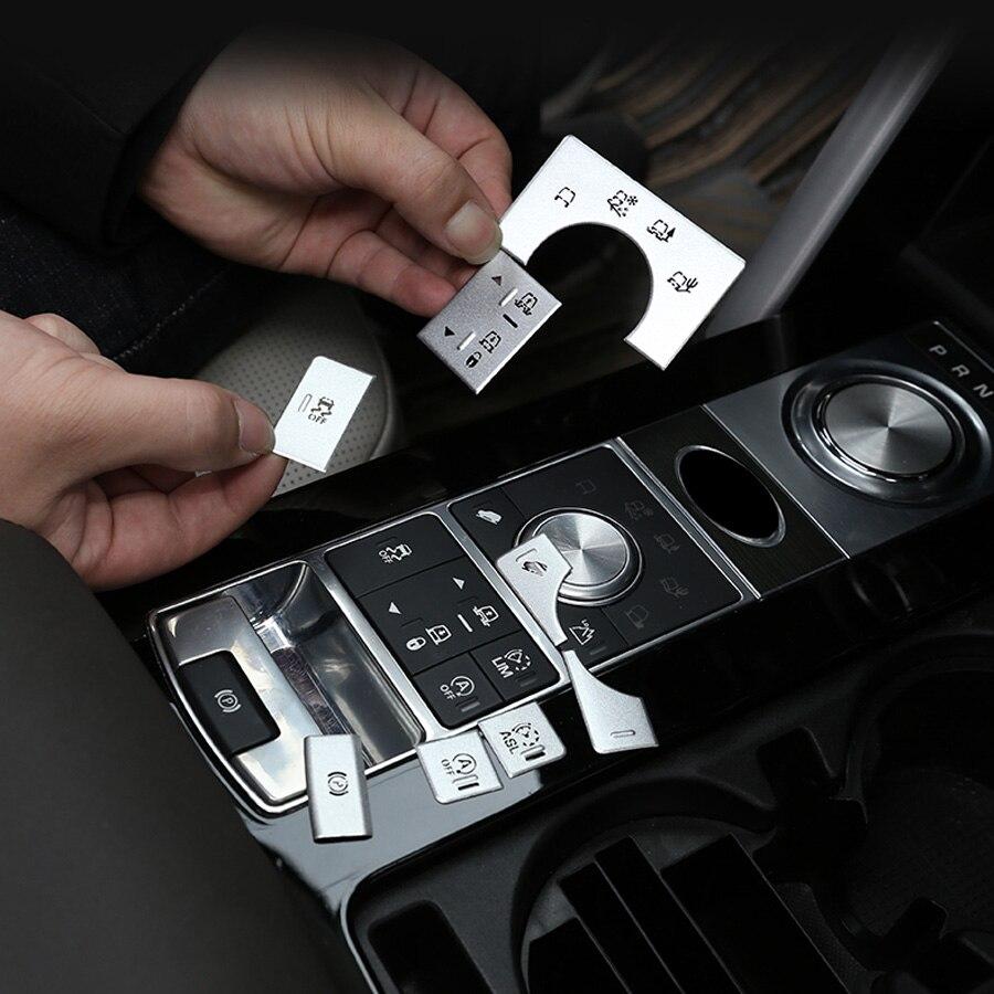 For Land Rover Discovery 5 2017 2018 2019 Aluminium Alloy Terrain Mode Button Sticker