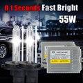 F5 rápido brillante de lastre de xenón HID kit de luz H7 12 V 55 W H1 H3 H4-1 H8 H9 H11 9005 HB3 HB4 9006 881 3000 k 30000 k OCULTÓ el kit del xenón