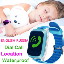 DS18 Smart Wristwatch Phone Watch Kid Anti-Lost GPS WiFi Tracker Clock For Kids SOS SIM Card Smartwatch For IOS Android Children