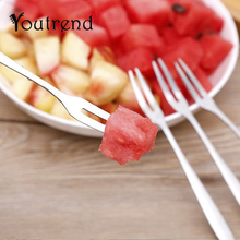 10pcs/lot 13cm Stainless Steel Fruit Forks for Restaurant Cafeteria Home Party Dessert Fork Cutlery Flatware for Cake and Salad