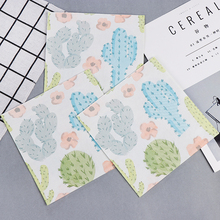 20pcs Cactus soft healthy decoupage napkin paper 100% virgin wood tissue for Christmas wedding party decorat цена и фото
