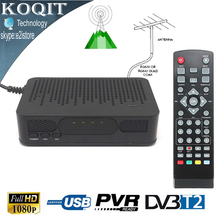 FTA H.264 MPEG-4 HD Digital Terrestrial DVB-T2 DVB-T CONVERTOR TV Tuner 1080P Receiver Set Top BOX HDMI Out USB PVR Playback