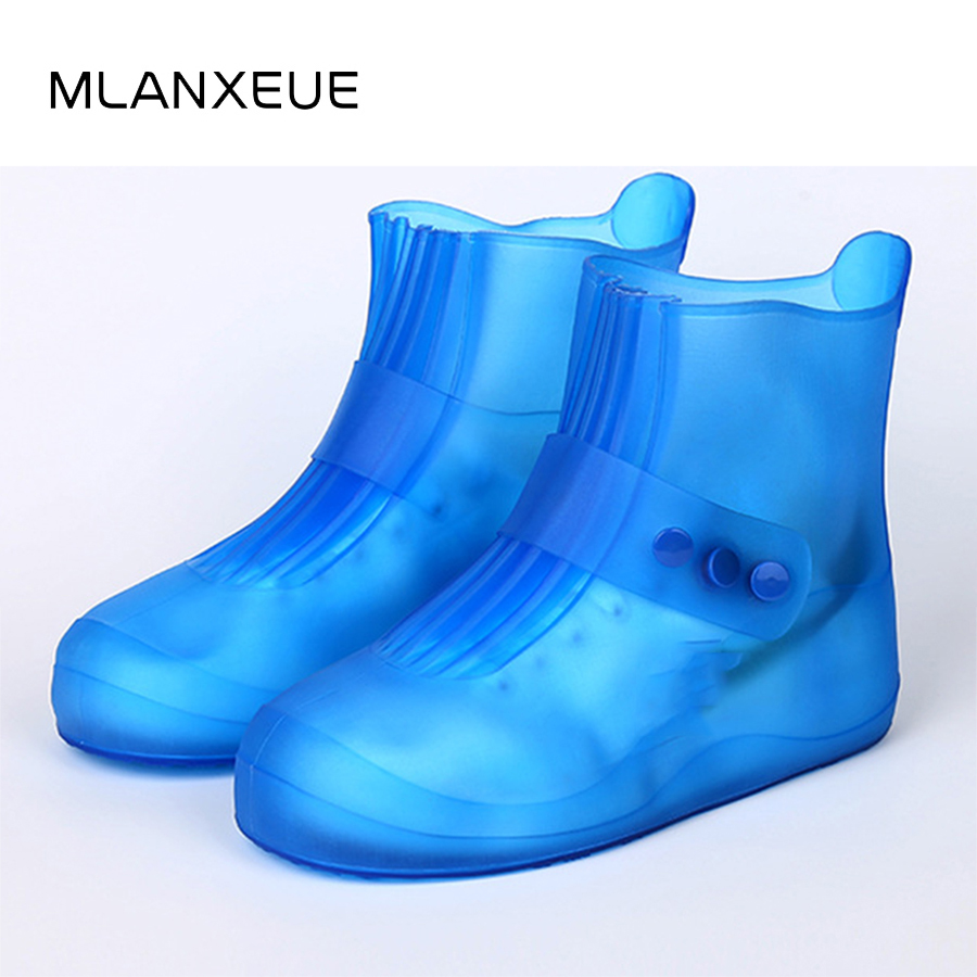 Waterproof Non-slip Lovers Rain Shoes Covers Wear-resistan Reusable Rubber Male Rain Boot Overshoes Man Shoes Accessories PVC france tigergrip waterproof work safety shoes woman and man soft sole rubber kitchen sea food shop non slip chef shoes cover