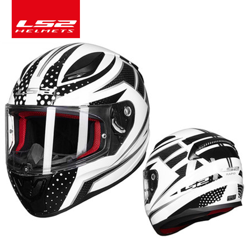 Image 3 - LS2 FF353 alex barros full face motorcycle helmet ABS safe structure casque moto capacete LS2 Rapid street racing helmets ECE-in Helmets from Automobiles & Motorcycles
