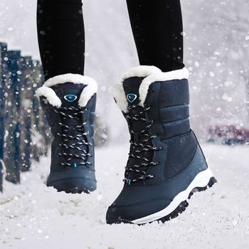 Kobiety buty antypoślizgowa wodoodporna zima kostki śniegu buty damskie platformy buty zimowe buty z grube futro botas mujer