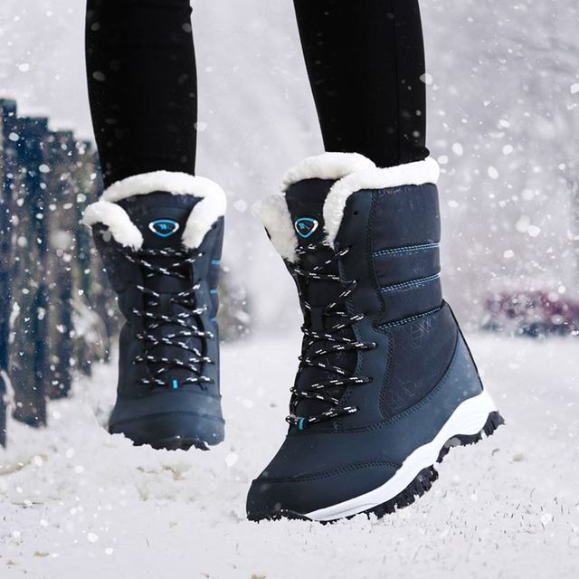 Women boots non slip waterproof winter ankle snow boots