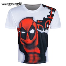2017 Summer Deadpool men's T-shirt Bodybuilding Fitness Clothing Male Tops 3D Printed white 3XL Funny T-Shirts Punk Hipster Tees