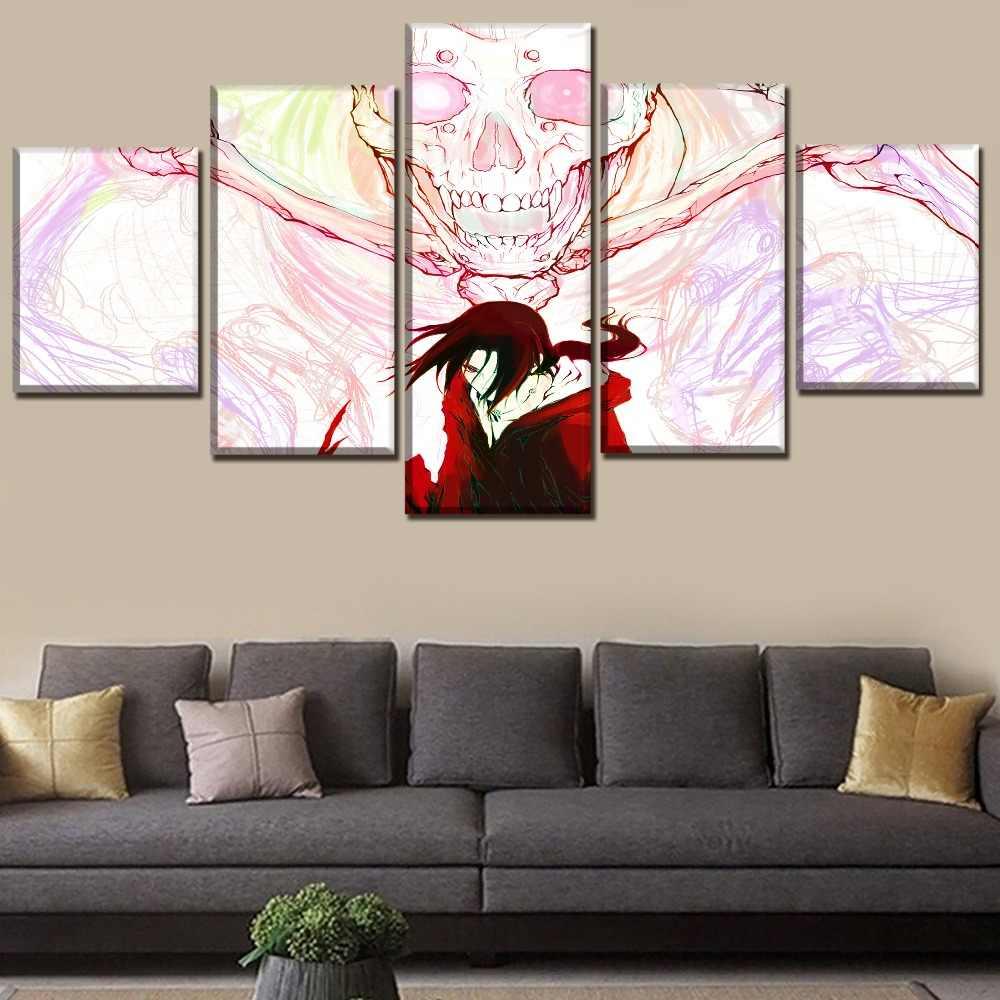 Tuval Baskı 5 Adet Anime Naruto Itachi Uchiha Ve Susanoo Kafatası Posteri Bir Set Çerçevesi Veya Çerçevesiz Duvar Sanat Ev dekoratif