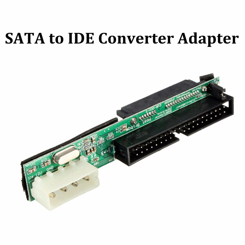 7+15Pin 3.5 IDE SATA SSD/HDD Drive Adapter SATA To IDE Converter Card Serial To Parallel Hard JM20330 Chip 44pin 2 5 ide hdd drive female to 7 15pin male sata adapter converter card l059 new hot
