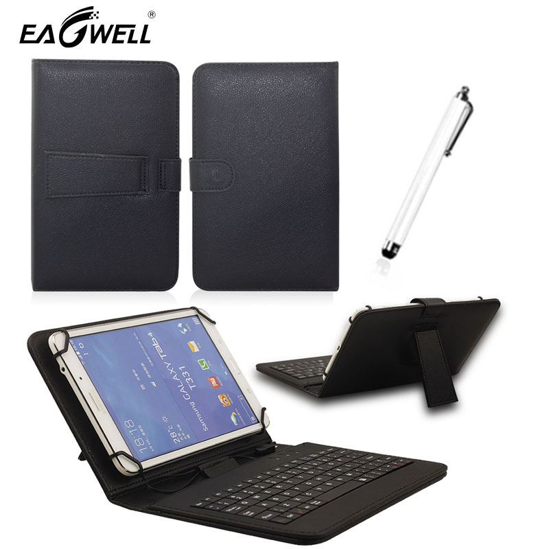 Micro USB Keyboard Leather Stand Case Cover For Universal 10 10.1 Inch Android Tablet PC For Samsung Lenovo Tablet Keyboard Case stylish wire 80 key keyboard pu stand cover case for 7 tablet pc w micro usb pink black