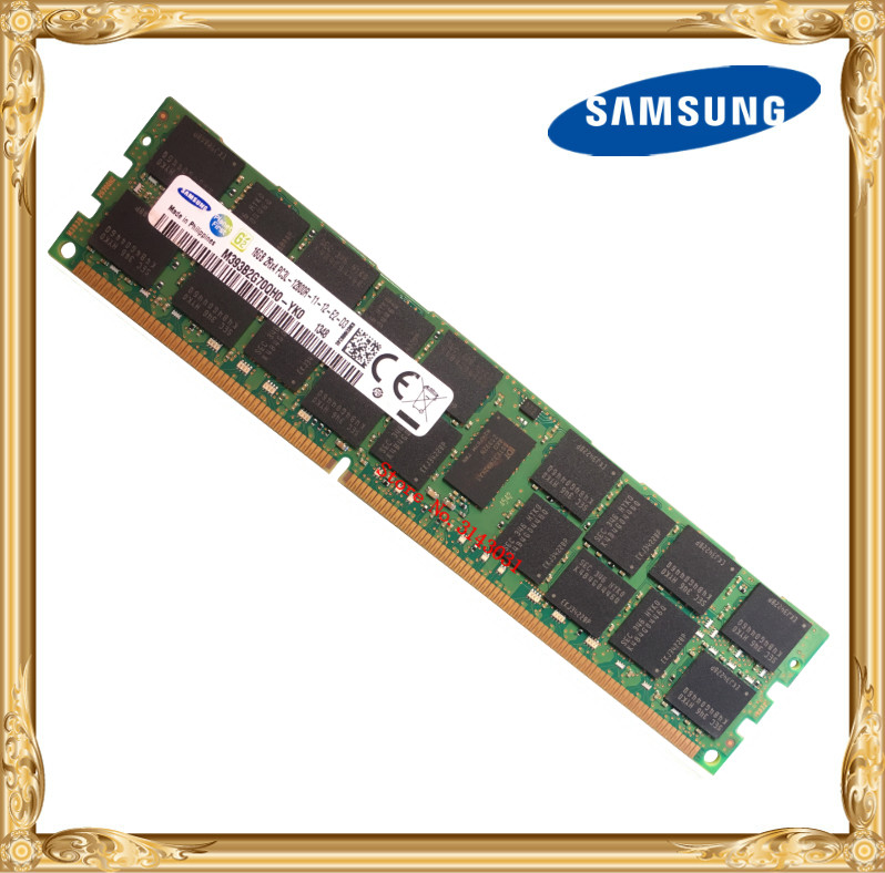 <font><b>Samsung</b></font> server memory <font><b>DDR3</b></font> 16GB 32GB 1600MHz <font><b>ECC</b></font> <font><b>REG</b></font> DDR3L PC3L-12800R Register DIMM RAM 240pin 12800 16G 2RX4 image