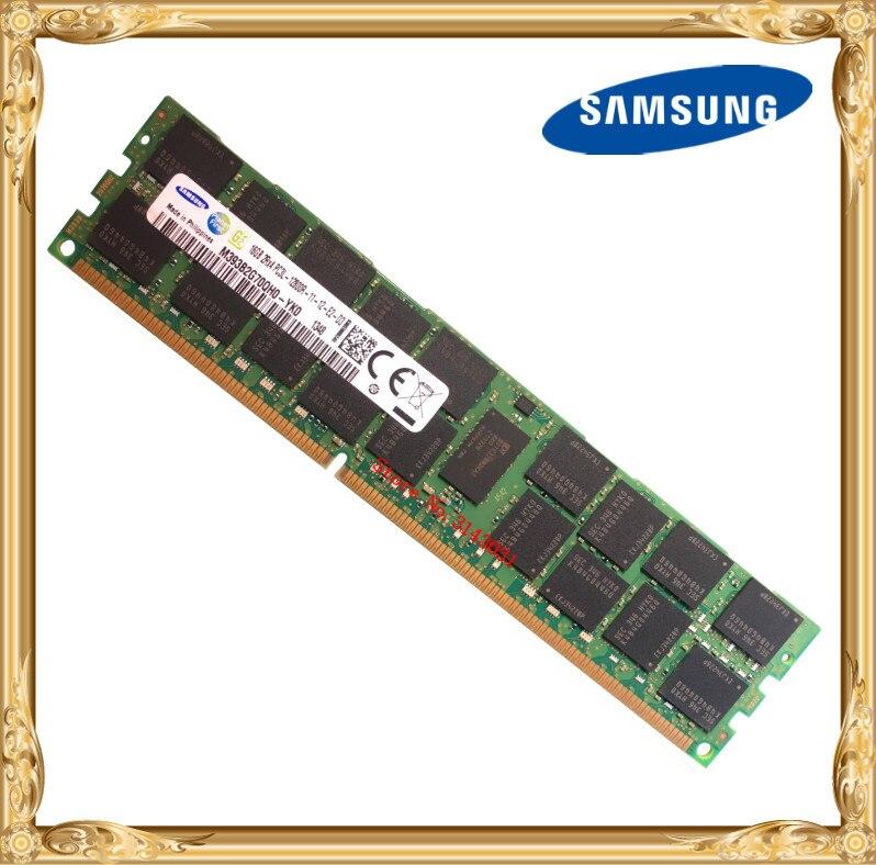 Samsung serveur mémoire DDR3 16 GB 32 GB 1600 MHz ECC REG DDR3L PC3L-12800R Registre RAM DIMM 240pin 12800 16G 2RX4