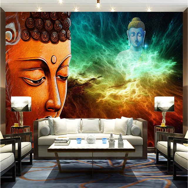 beibehang large custom mural wallpaper photos any size buddha marginbeibehang large custom mural wallpaper photos any size buddha margin zen new chinese style lounge sofa