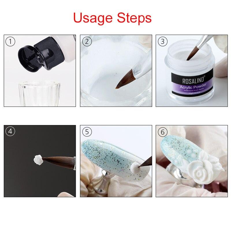 Акриловый порошок ROSALIND, полигель для ногтей, лак для ногтей, украшения для дизайна ногтей, набор для маникюра с кристаллами, профессиональные аксессуары для ногтей 5
