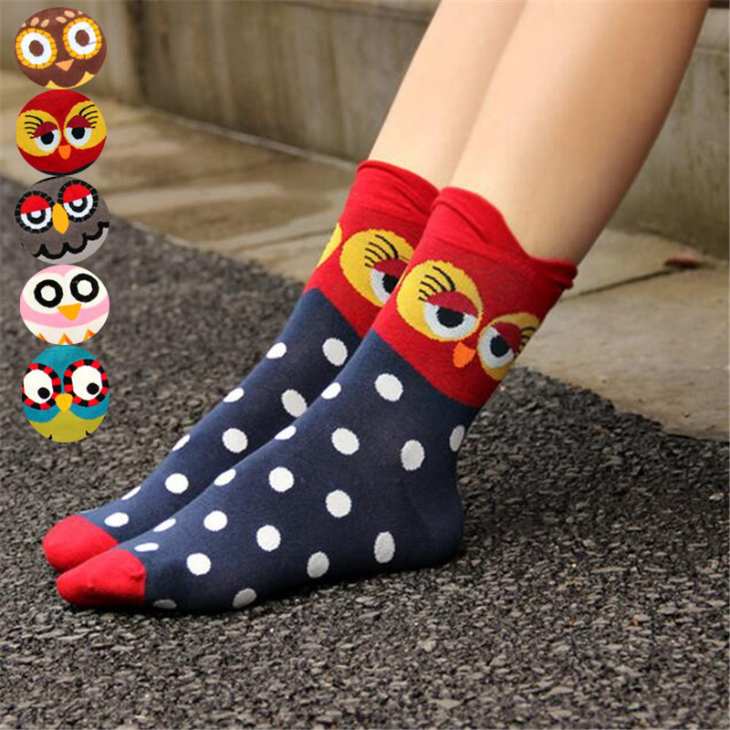 New Arrival Women Lovely Cartoon Socks Autumn-winter Fashion Animal Sock Lady And Women's Funny Cool Cotton Socks Girl