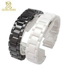 Di ceramica della vigilanza del braccialetto 14 millimetri 15 16 17 18 19 20 21 millimetri 22 millimetri cinturino bianco nero cinturino orologi da polso band non dissolvenza resistente allacqua