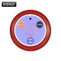 KERUI Wireless Service Call Button Waiter 433MHZ Wireless Calling System Restaurant Call Buttons Bell For Cafe Bar Hotel F64| |   -