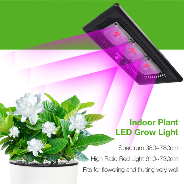 Удара светодиодный светать полный спектр ультра-тонкий Водонепроницаемый IP67 цветы, растущие лампа для овощей и цвету Крытый растение откры...