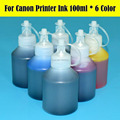 6 colo/lot 600 ml de impressora ciss cartucho de tinta para canon pixma mg6310 mg6320 mg6330 mg6340 mg6350 mg6360 impressora de tinta