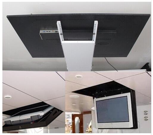 2019 моторизованный Электрический Скрытая флип вниз подвесной потолок Led lcd tv кронштейн для подъемника вешалка держатель функция дистанционн