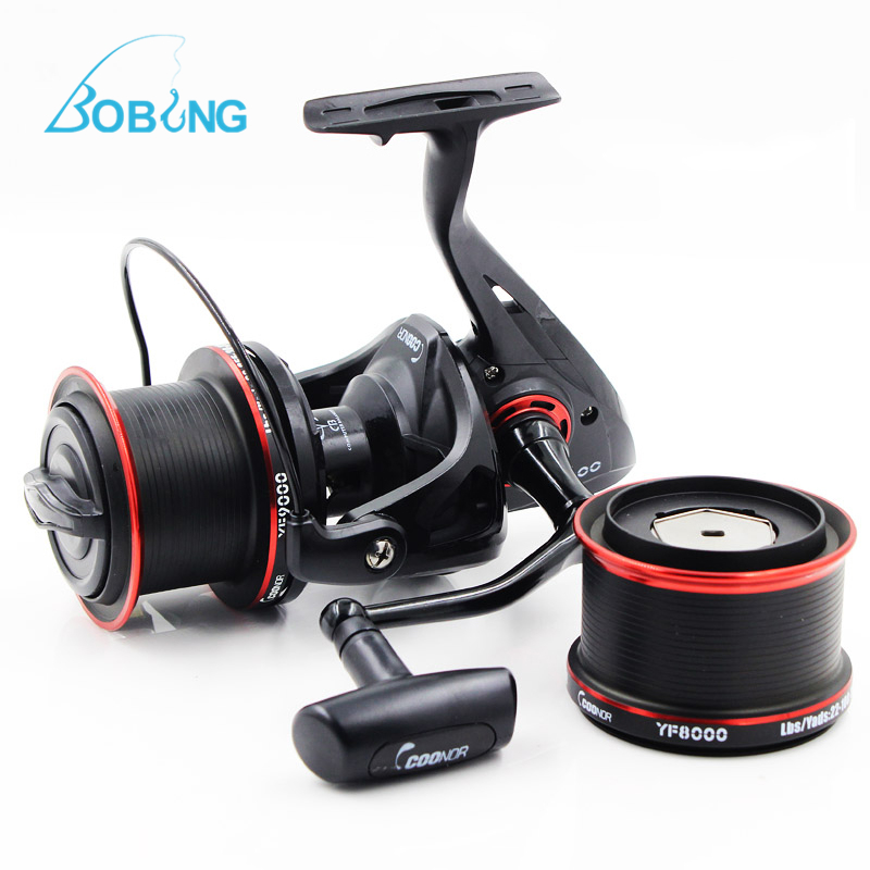 COONOR Carp Fishing Spinning Reels 12+1BB 4:6:1 Right/Left Handle Pre-unloading Fishing Coil Metal With Two Spools Pesca Peche coonor 12 2 ball fishing reels bearings metal fishing wheels spool spinning fishing reel 4 6 1 with yf8000 yf9000 wheels